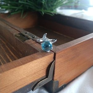 Sterling Mermaid Ring Size 8
